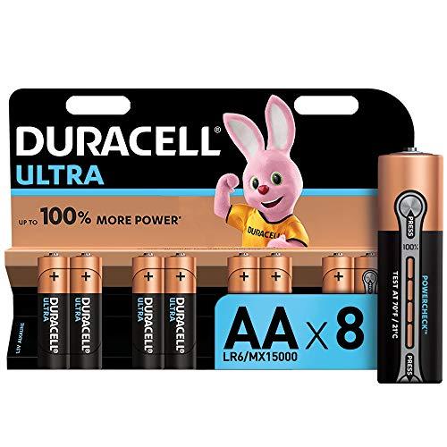 Duracell Ultra AA Mignon Alkaline Batterien LR6, 8er Pack