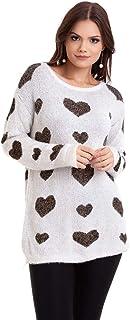 Suéter Pelinho Coração Kinara
