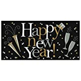 'Happy New Year' Plastic Party Decoration Banner | Multicolored
