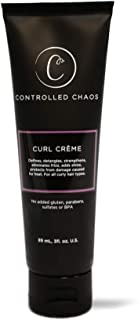 Controlled Chaos Curl Defining Cream - Sulfate Free Curl Creme Enhancer For Naturally Thick, Anti-frizz, Wavy Hair | 3oz - As Seen on Shark Tank