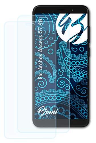 Bruni Schutzfolie kompatibel mit Archos Access 57 4G Folie, glasklare Bildschirmschutzfolie (2X)