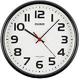 CASIO(カシオ) 掛け時計 電波 ブラック 直径21.6cm アナログ 置き掛け兼用 掛け具セット
