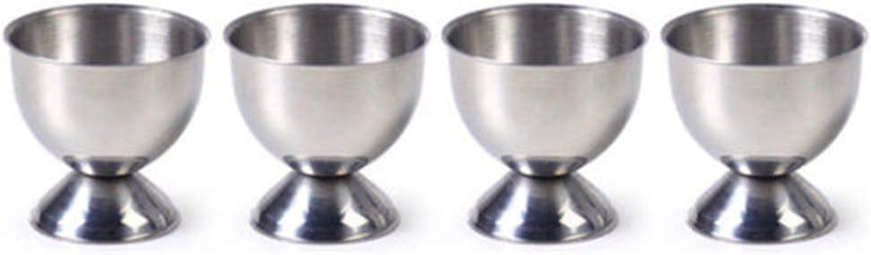 Egg Cup Holder Set for Albuquerque Mall OFFer Eggs Stainless Soft Boiled Steel
