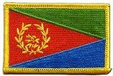 Flaggen Aufnäher Eritrea Fahne Patch + gratis Aufkleber,