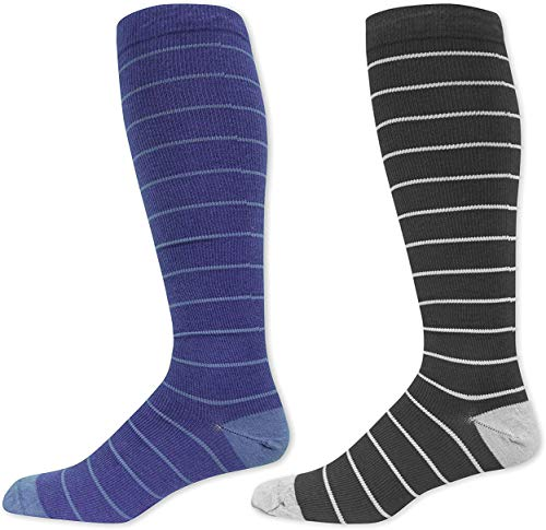 Dr. Scholl's Men's Graduated Compression Socks, Size 10.5-12, 2-Pairs