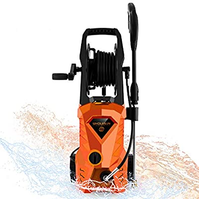 WHOLESUN 3000PSI Pressure Washer Electric 1.8GPM 1600W High Power Washer Machine with Spray Gun & 5 Nozzles?Green?