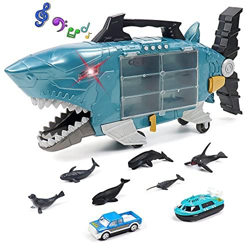 Hai Auto LKW Transporter Spielzeug,2 in...
