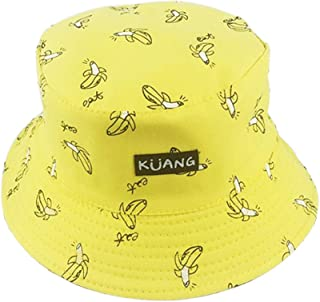 9722aad0ee4 preliked Unisex French Fires Banana Print Fisherman Hat Women Bucket Cap  Summer Outdoor Anti-Sunlight