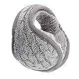 OFKPO Winter Knit Foldable Ear Warmer Earmuffs Ear Winter Warmers for Men Women