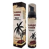 Loción de 100 ml, para el cuidado de la piel, crema de crema de rizo, autobronceadora, de secado rápido, protección solar natural y autocbrador