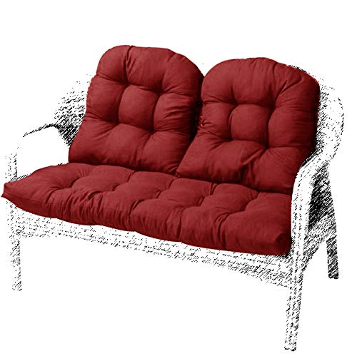BoruisX Cojín para asiento de jardín de 2 plazas, cojín d