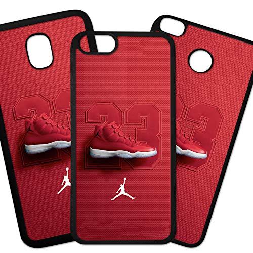 Tuscaprichosonline Fundas De Moviles Carcasas De Moviles Funda Carcasa Compatible con Marca Deportiva Nike Air Jordan Zapatilla 23 Rojo