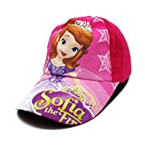 VRITRAZ Cartoon Character Printed Little Baseball Cap for Kids, Baby Girls and Boys 3-12 Years Sofia Pink