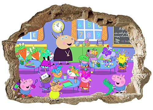 Peppa Pig Wandaufkleber Peppa Wutz Familie Wandbild Peppa Pig Schlafzimmer Jungen Mädchen Wandaufkleber
