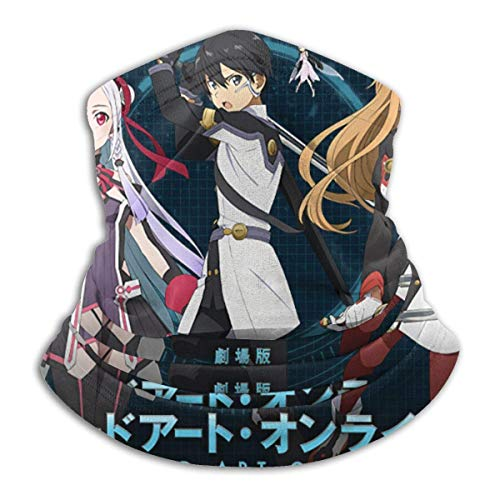 Emonye Sword Art Online The Movie-Ordinal Scale Microfiber Warmer Scarf Soft Elastic Men Women Fleece Face Bandana Cover for Snowboarding Winter Sports