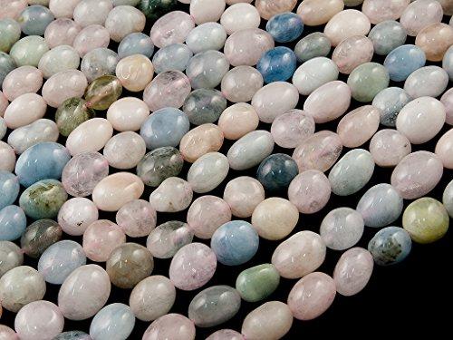 Beads Ok, DIY, Morganita, Genuino, Naturales, 6-8mm Abalorio Cuenta Mostacilla o Chaquira De Piedra Semipreciosa Llano Guijarro/Nugget, Cerca de los 40cm un Tira. (Morganite, Pebble Bead)