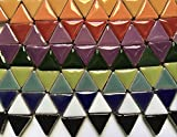 100 Mixed Pcs 15mm Triangle Ceramic High Gloss Mosaic Border Tiles Mosaic Making Supplies fortysevengems