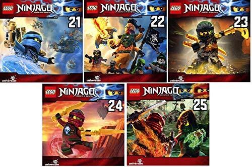 Lego Ninjago - Hörspiel CD 21-25 (21+22+23+24+25) im Set - Deutsche Originalware [5 CDs]