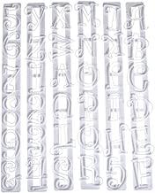 Autek 6pcs Alphabet Number Letter Fondant Cake Frill Edge Sugarcraft Cutter Mold Tool(3DMold-75)