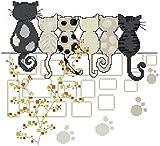 espera gatos Kit para punto de Cruz, 14 ct 139 * 127stitch, 35.2 cm * 33 cm de tamaño Kits de punto cruz