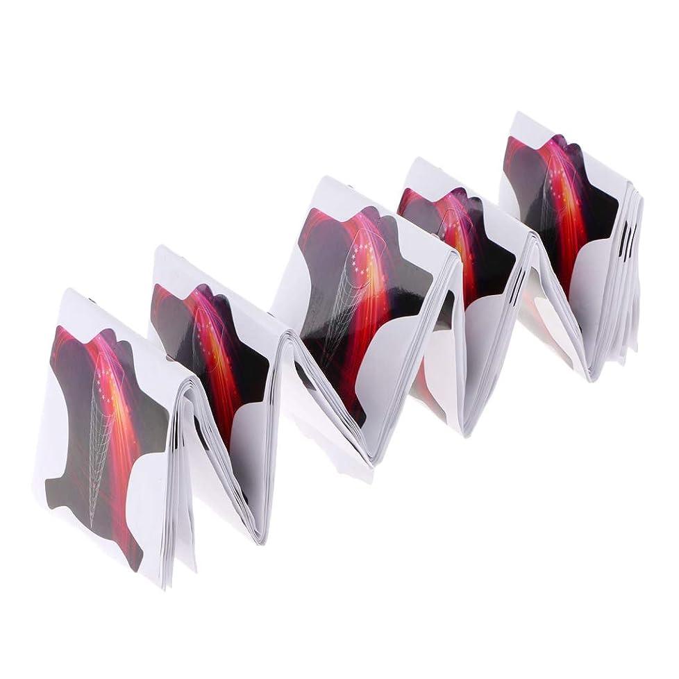 偽装する放射能円周Perfeclan ネイルアートフォーム ネイルアート 先端 フォーム 爪拡張ガイド スタイル - 約100個