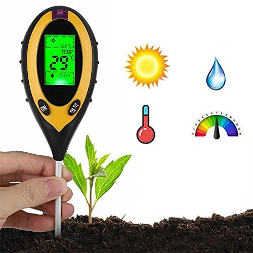 Testeur de Sol 4 en 1, KKmoon® Testeur Humidité Plantes Humidimètre Niveaux de pH Température...
