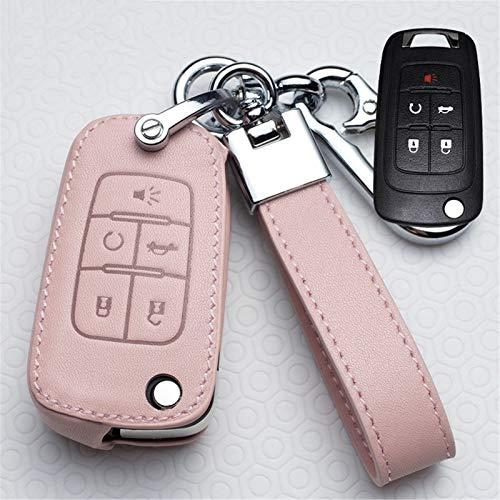 meDKO Funda de Cuero para Llaves de Coche, para Chevrolet Cruze Aveo Trax, para Opel Astra Corsa Meriva Zafira Antara J Mokka Insignia, para Accesorios Buick