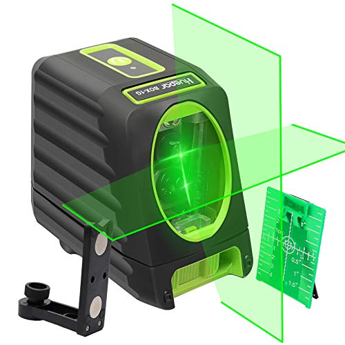 Huepar 2ライン グリーン レーザー墨出し器 クロスラインレーザー 緑色 すみだしレーザー 高精度 高輝度 ラ...