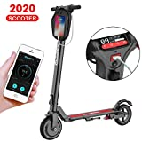 APP Electric Scooter Adults,LCD Display,Fixed Speed Cruise,30KM Long-Range,3 Speeds Adjustable,8 inch Max 350w