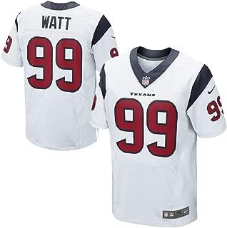 Nike Men's NFL J.J. Watt #99 Houston Texans Elite Jersey 479117-104 (Size 60) White/Battle Red/Navy