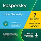 kaspersky total security 2021 | 2 dispositivi | 1 anno | pc / mac / android | codice d'attivazione via email