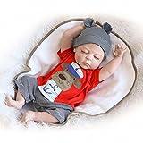 ZIYIUI Realista Muñeca Reborn bebé Niño 18 Pulgadas 45 cm Silicona...