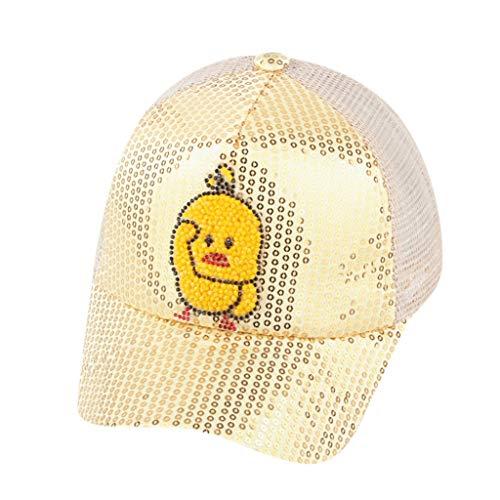 aiyvi Baby Kinder Cap Baseball Kappe Süß Karikatur Ente Hut,Paillette Verzierung Sonnenhut,für 2-8 Jahre Junge und Mädchen