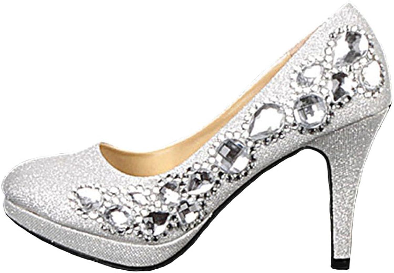 BoShi Women's Beads Wedding Bridal shoes Party Pumps