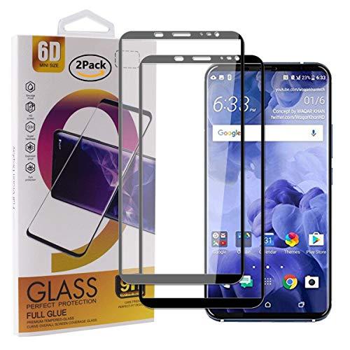Guran [2 Pezzi Pellicola Vetro Temperato per HTC U11+ / HTC U11 Plus Smartphone Copertura Completa 9H Durezza Anti-Impronte HD Pellicola Protettiva - Nero