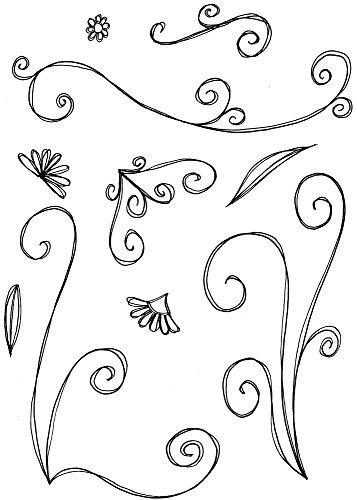 Lindsay Mason Designs LM Fleur et Kit de Tampon Transparent