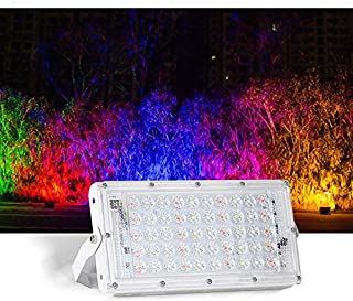AKDSteel 50W 220V RGB LED Floodlight Outdoor Waterproof Lightweight Spotlight with Remote Control