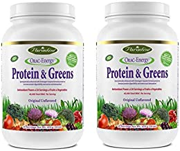 Paradise Herbs Orac Energy Protein Powder, Greens,454 g (Pack of 2)