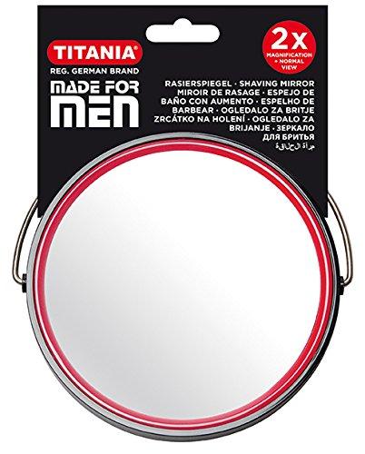 TITANIA scheerspiegel, mannen, diameter 13 cm, zwart, 1-pack (1 x 162 g)