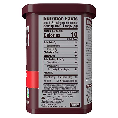 HERSHEY'S SPECIAL DARK Cocoa, 8 Ounce