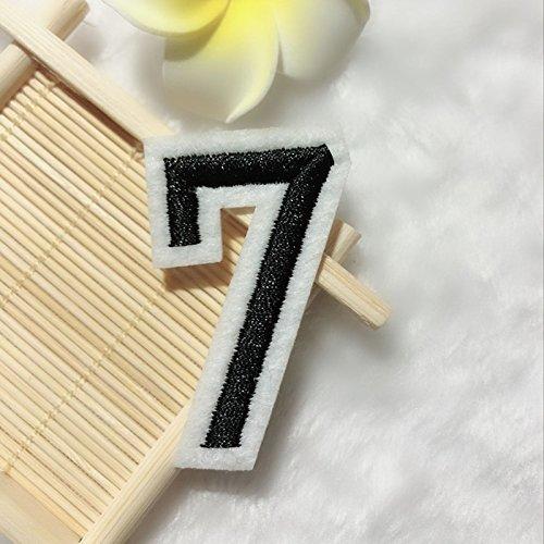 1 ST 0-9 Digitale Nummer Ijzer Op Patch Applique Kleding Jurk Plant Hoed Jeans Naaien Bloemen Applique DIY Accessoire 8# 7