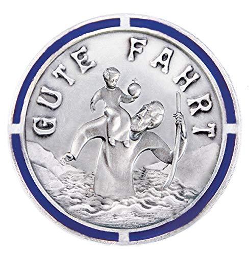 Fritz Cox Automedaille Christophorus modern mit poliertem Rand 3cm