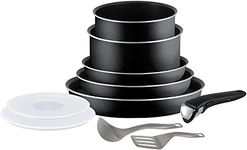 Tefal Ingenio Essential Batterie de cuisine 10 pièces, Poêles 20/22/26 cm, Casseroles 16/18 cm, Couvercles hermétique...