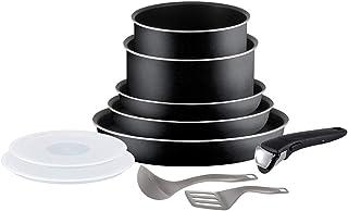 Tefal Ingenio Essential Batterie de cuisine 10 pièces, Poêles 20/22/26 cm, Casseroles 16/18 cm, Couvercles hermétiques 16/...