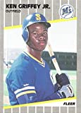 1989 Fleer Baseball #548 Ken Griffey Jr. Rookie Card. rookie card picture