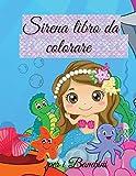 Libro da colorare Sirena per Bambini: Libro da colorare sirena carino | Per i bambini, bambini di et...