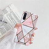 Herbests Compatibile con Samsung Galaxy Note 10 Cover Silicone Morbida Custodia TPU Bumper Protettiva Case Cuciture di Placcatura Marmo Antiurto Slim Soft Case,Marmo-4