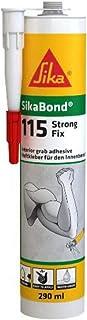 Sikabond 115 Adhesivo de montaje con fuerte agarre para pegado de materiales, Blanco, 290 ml
