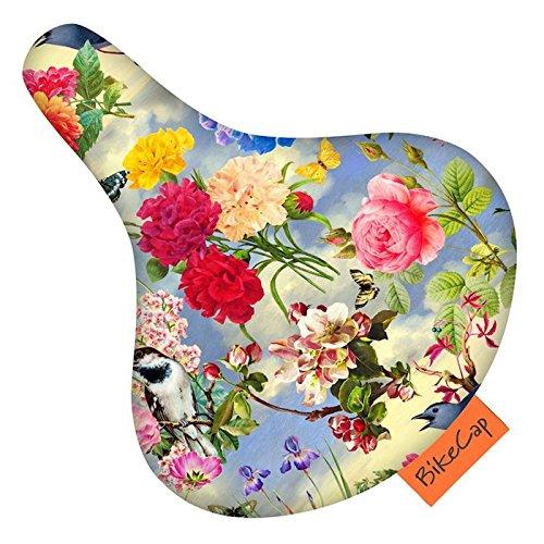 Bikecap - Coprisella per adulti con motivo a fiori birdy