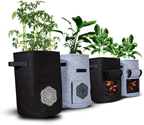 Crush Grow 10 Gallon Potato Grow Bags for Plants Vegetables and Herbs 4 Pack Reusable Growing product image